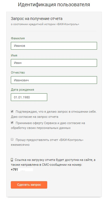 БКИ-контроль и ввод данных